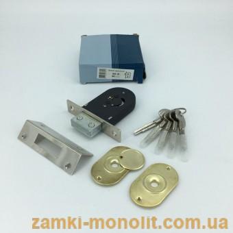 Замок врезной АПЕКС 89-к-CR (аналог 156/F 5 ключей)