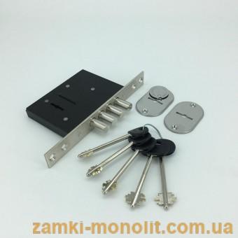 Замок врезной ЗВ8 190.0.0 (аналог КАЛЕ 189 4МF сувальдный, 5 ключей)