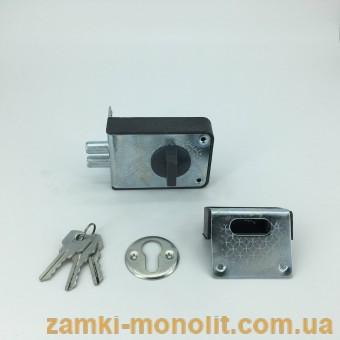 """Замок накладной цилиндровый ЗН1-1 (""""блестяшка"""")"""