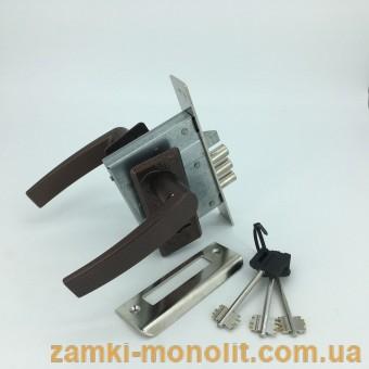 Замок врезной ЗВ9-8/13.СП-2НР.002 (короткая коричневая накладка)